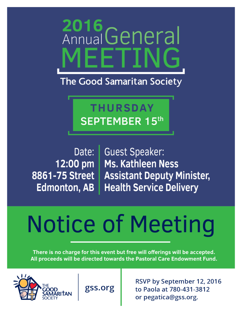 Annual General Meeting Poster 2016