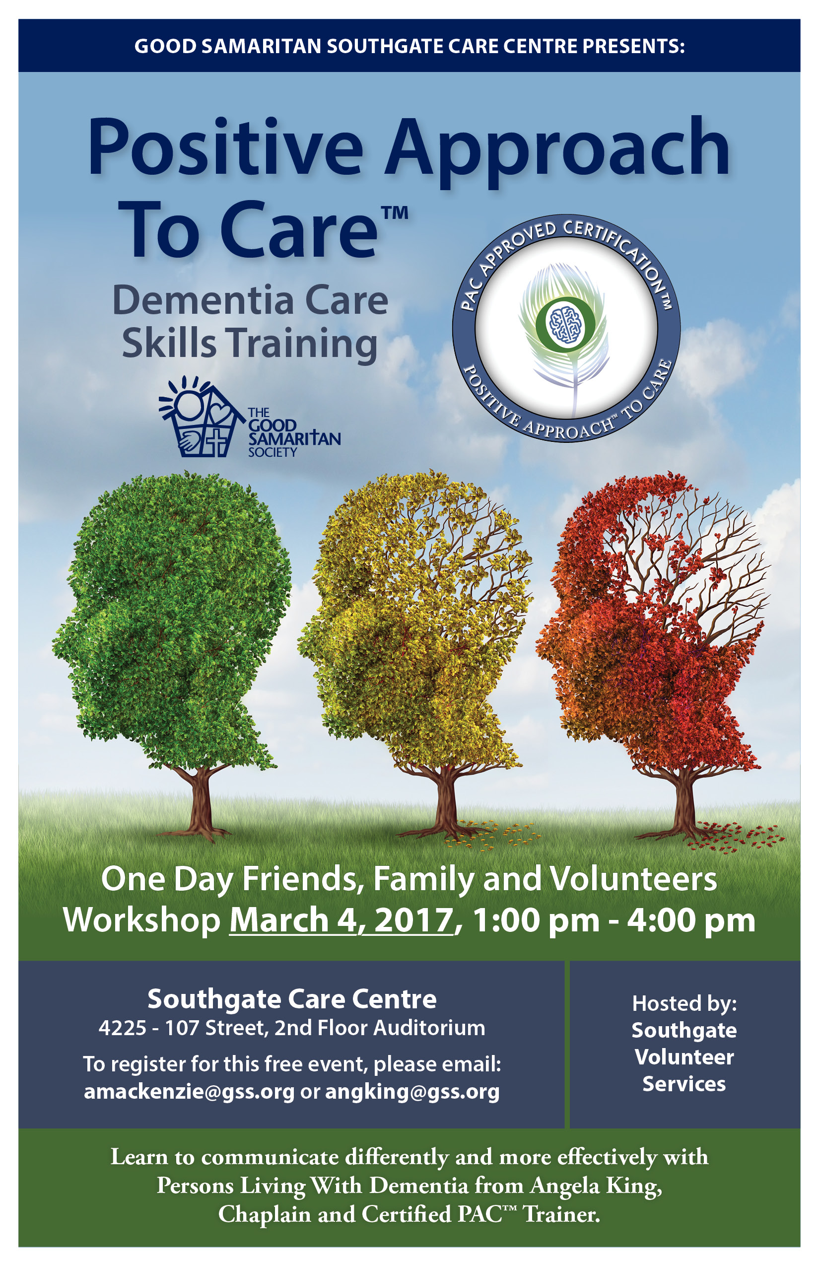 upcoming events good samaritan southgate care centre dementia awareness dementia knowledge dementia skill