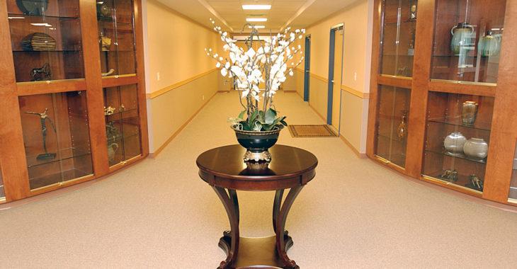 One of Deltaview Habilitation centre's elaborate corridors.Photo: Kyle Hoobin
